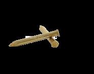 Remache cabeza plana - Latón Ø 2.4 mm L : 14 mm - Ø 2.4 mm