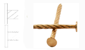 Barra espiral / dentada – Cobre