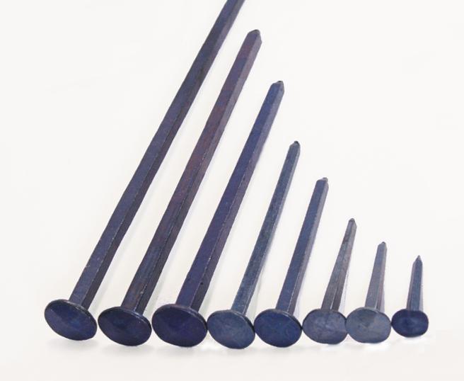 Clavo forjado Cabeza diamante - Acero azulado (100 clavos)