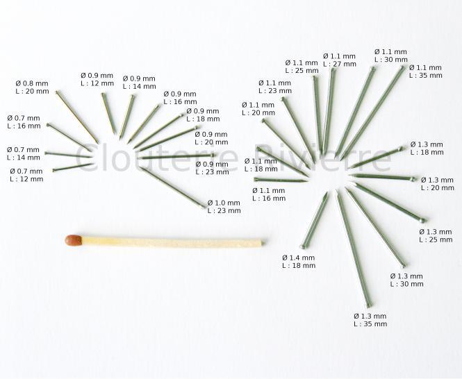 Punta cabeza perdida - Acero Ø 0.8 mm (1kg)